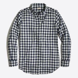 J Crew Gingham Classic Button Down Shirt